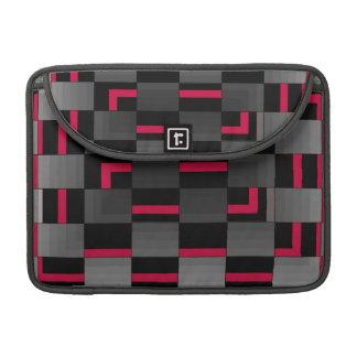 Chessboard Neon Red City Urban Design MacBook Pro Sleeves