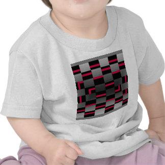 Chessboard Neon Red City Urban Design Tee Shirts