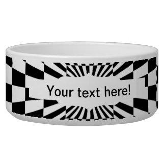 Chessboard optical illusion dog bowl