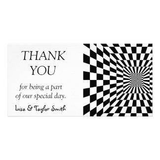 Chessboard optical illusion photo greeting card