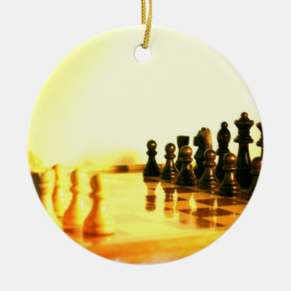 Chessboard Ornaemnt Ceramic Ornament
