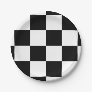 chessboard paper plate
