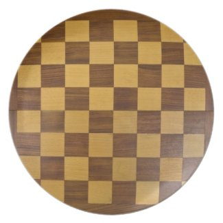 chessboard party plates