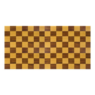 chessboard personalized photo card