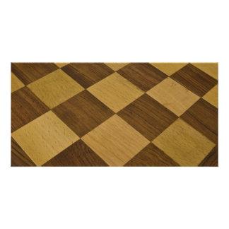 chessboard customized photo card