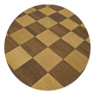 chessboard round sticker