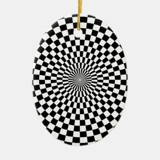 Chessboard sample ceramic ornament