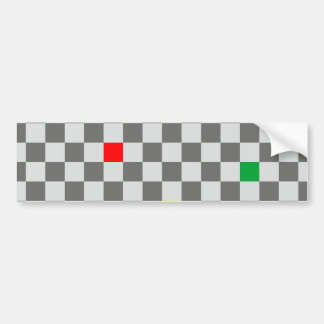 Chessboard sample chess board pattern bumper sticker