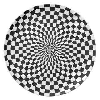 Chessboard sample melamine plate
