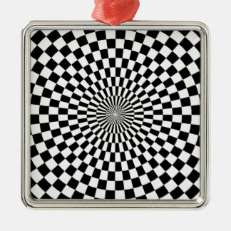 Chessboard sample metal ornament