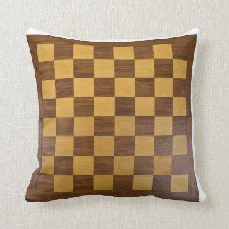 chessboard throw pillow
