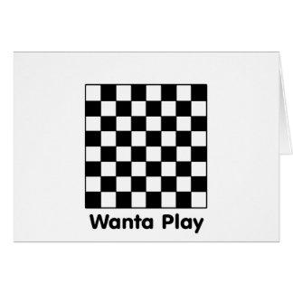 Chessboard Wanta B&W The MUSEUM Zazzle Gifts Card