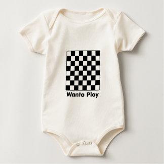 Chessboard Wanta B&W The MUSEUM Zazzle Gifts Romper