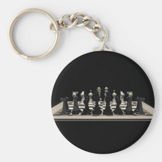 Chessboard with Chess Pieces: Keychains