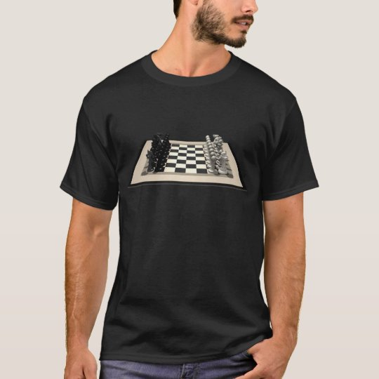 Chessboard with Chess Pieces: T-Shirt