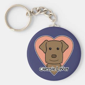 Chessie Lover Basic Round Button Keychain