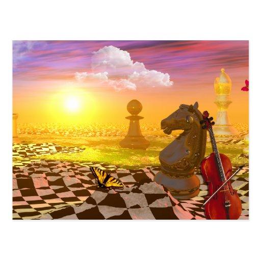 ChessWorld Postcard