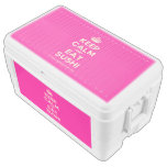 [Crown] keep calm and eat sushi  Chest Cooler Igloo Ice Chest