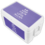 [No Crown] keep calm and love allah  Chest Cooler Igloo Ice Chest