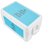 [Crown] keep calm and love omar  Chest Cooler Igloo Ice Chest
