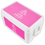 [Knitting crown] keep calm and love shelby  Chest Cooler Igloo Ice Chest