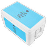 [Love heart] keep calm and love cma  Chest Cooler Igloo Ice Chest