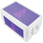 [Dancing crown] keep calm and love music  Chest Cooler Igloo Ice Chest