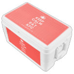 [Cutlery and plate] keep calm and eat kfc  Chest Cooler Igloo Ice Chest