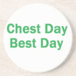 chest day green beverage coasters