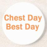 chest day orange drink coasters
