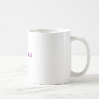chest day purple coffee mug