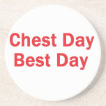 Chest day red coasters