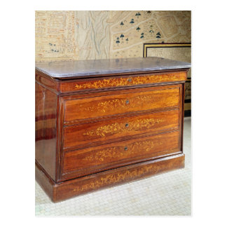 Chest of drawers, Louis-Philippe period Postcard