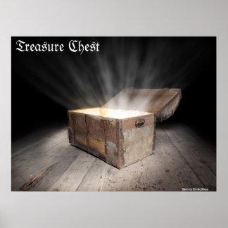 Chest of treasure print
