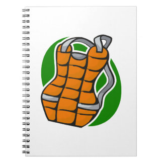 chest protector spiral notebook