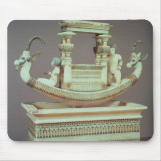 Chest with a boat decorated with two heads mouse pad