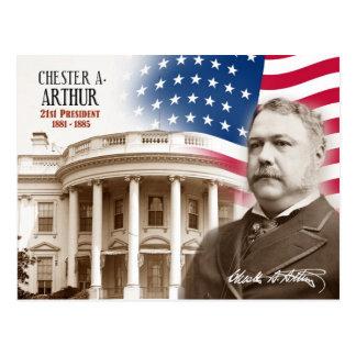 Chester A. Arthur - 21ro presidente de los E.E.U.U Tarjeta Postal