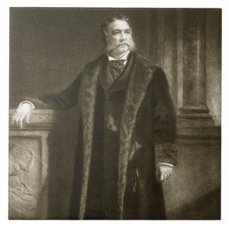Chester A. Arthur, 21ro presidente del St unido Azulejo Cuadrado Grande