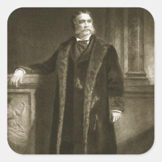 Chester A. Arthur, 21ro presidente del St unido Pegatina Cuadrada