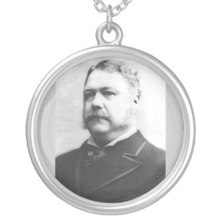 Chester A. Arthur 21st President Silver Plated Necklace
