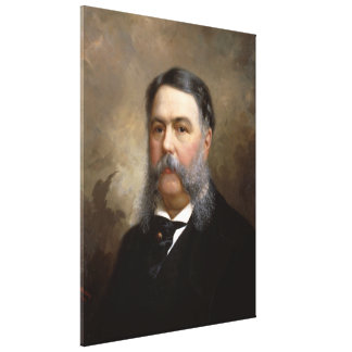 CHESTER A. ARTHUR Portrait by Ole P.H. Balling Stretched Canvas Print