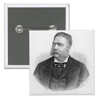 Chester Alan Arthur , engraved by A. Weger Button