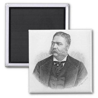 Chester Alan Arthur , engraved by A. Weger Magnet