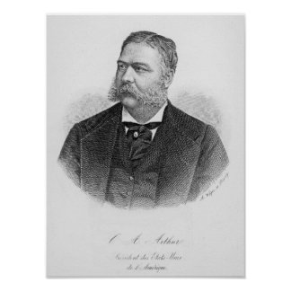 Chester Alan Arthur , engraved by A. Weger Posters