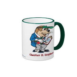 Chester B. Gopher Mug Taza De Dos Colores