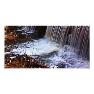 Chester Bowl Waterfall Customized Photo Card