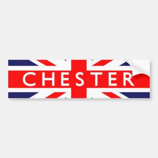 Chester British Flag Bumper Sticker