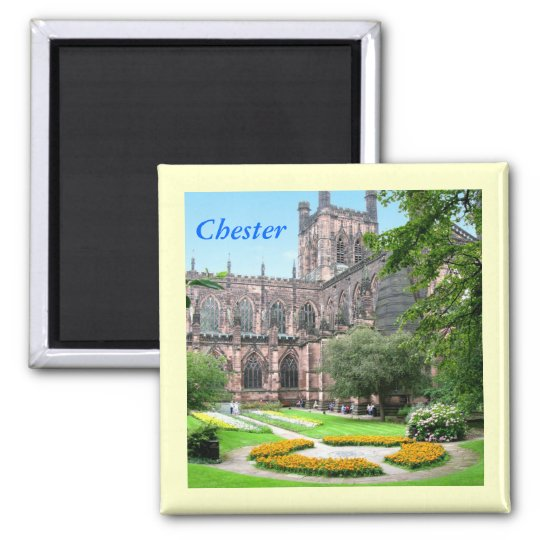 Chester Cathedral 2 Inch Square Magnet