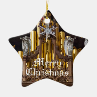 Chester Cathedral angels Double-Sided Star Ceramic Christmas Ornament