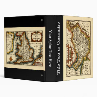 """Chester"" Cheshire, County Map, England 3 Ring Binder"